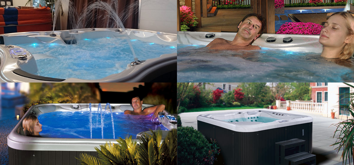 EUtech Waterwave Spas Collage